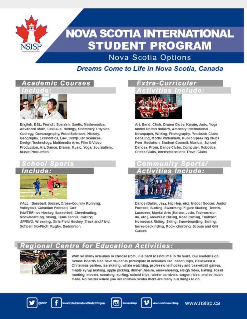 Program Details | NS International Student Program